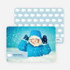 Beary Cute Christmas Photo Card - Periwinkle