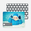 Beary Cute Christmas Photo Card - Silver