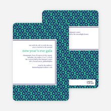 Patterned Party Invitations - Green