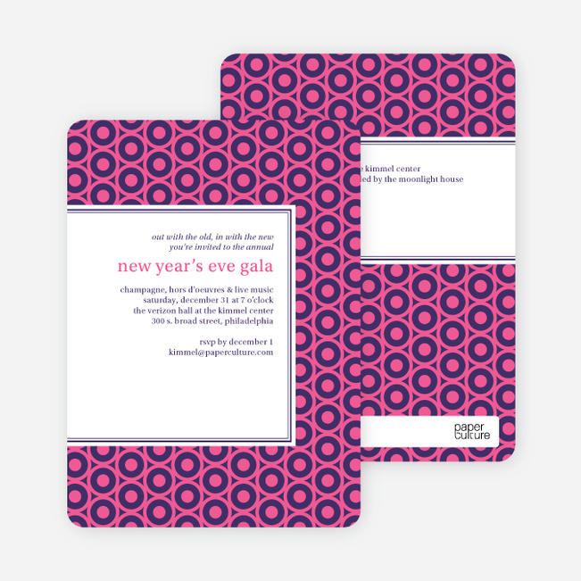 Bold, Patterned Party Invitations - Pink