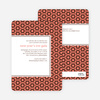 Bold, Patterned Party Invitations - Orange