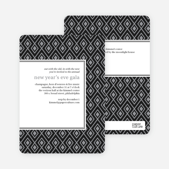Bold, Patterned Party Invitations - Gray
