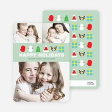 Christmas Icons Mt Rushmore Christmas Cards - Green