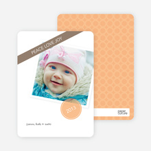 Christmas Cards: Peace, Love & Joy - Orange