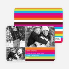 Festive Rainbow Stripes - Magenta