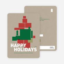 Gift Box Holiday Cards - Burgundy