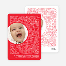 Spirit of the Holiday Baby Announcements - Tomato Red
