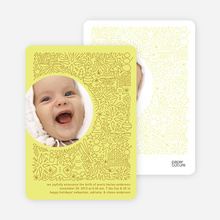 Spirit of the Holiday Baby Announcements - Neon Yellow