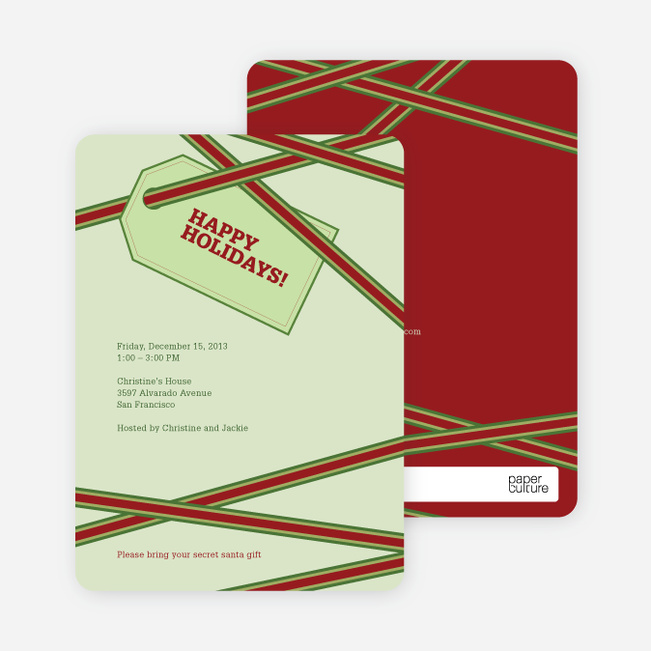 Holiday Gift Cards - Pistachio