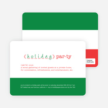 Holiday Party Definition - Emerald Green