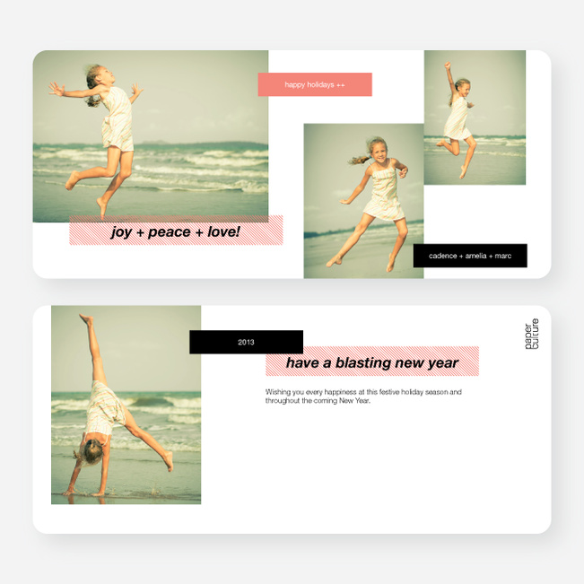 Holiday Tags Photo Cards - Red