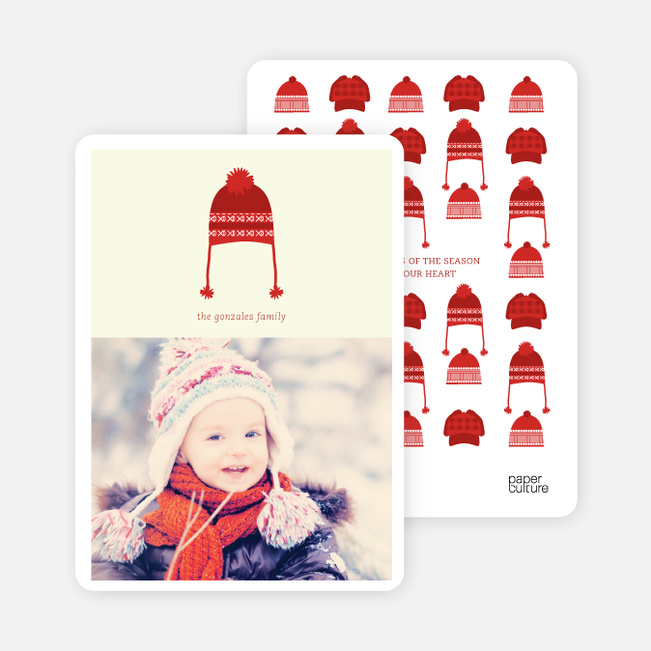 Christmas Cards: Holiday Warmth - Red