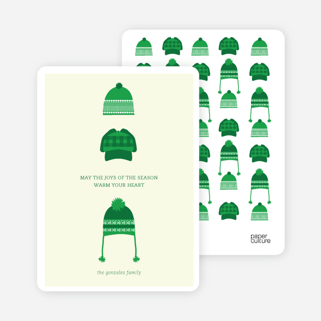 Holiday Warmth Christmas Cards - Green