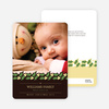 Holly Banner Holiday Photo Cards - Walnut