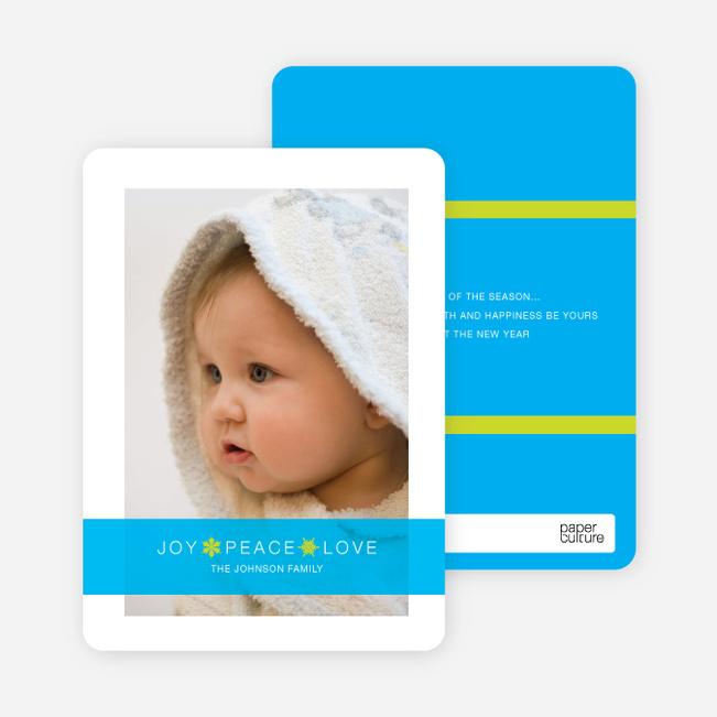Christmas Cards: Joy, Peace & Love - Sky Blue
