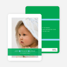 Joy * Peace * Love Holiday Cards - Emerald Green