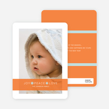 Joy * Peace * Love Holiday Cards - Pumpkin