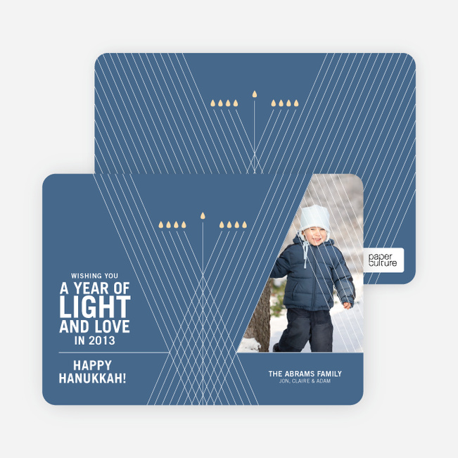 Light and Love Hanukkah Cards - Vista Blue