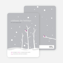 Lone Sparrow Holiday Invitations - Pewter