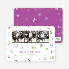 Making Spirits Bright Holiday Photo Cards - Amethyst