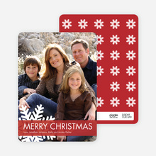 Christmas Snowflake Photo Cards - True Red