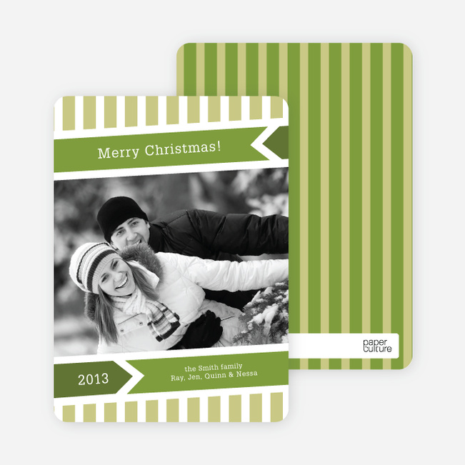 Modern Merry Christmas Cards - Lemongrass