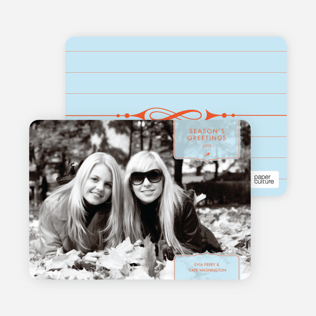 Modern Holiday Photo Cards: Traditionalist - Azure