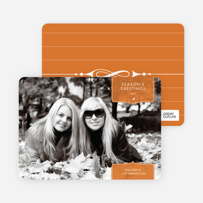 Modern Holiday Photo Cards: Traditionalist - Cinnamon