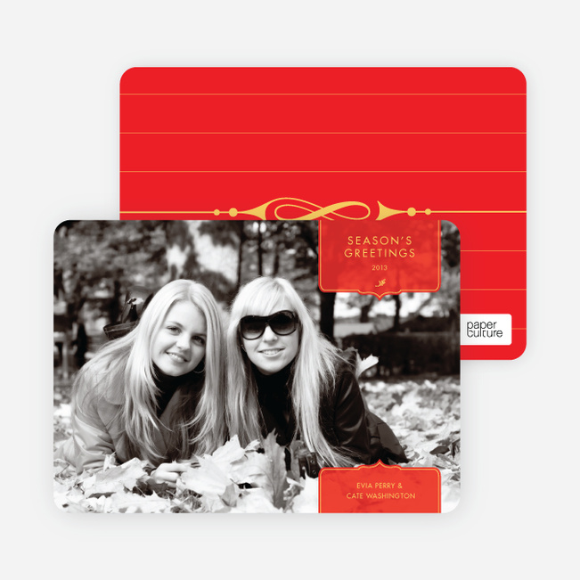 Modern Traditionalist Holiday Photo Cards - Punch