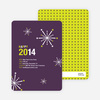 New Year's Fireworks New Year's Invitations - Plum