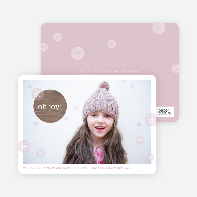 Oh Joy Holiday Cards - Pink