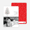 Peace on Earth Holiday Christmas Tree Cards - Tomato Red