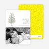 Peace on Earth Holiday Christmas Tree Cards - Banana Yellow