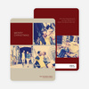 Photobooth Holiday Photo Cards - Burgundy