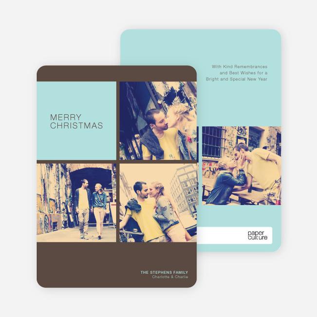 Photobooth Holiday Photo Cards - Misty Sky