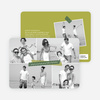 Picture Collage Holiday Photo Card - Green