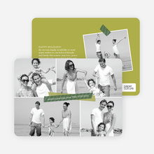 Christmas Cards: Picture Collage - Green