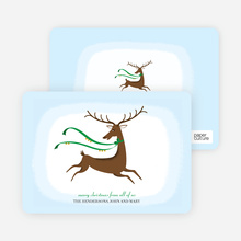 Reindeer Christmas Card - Shamrock Green