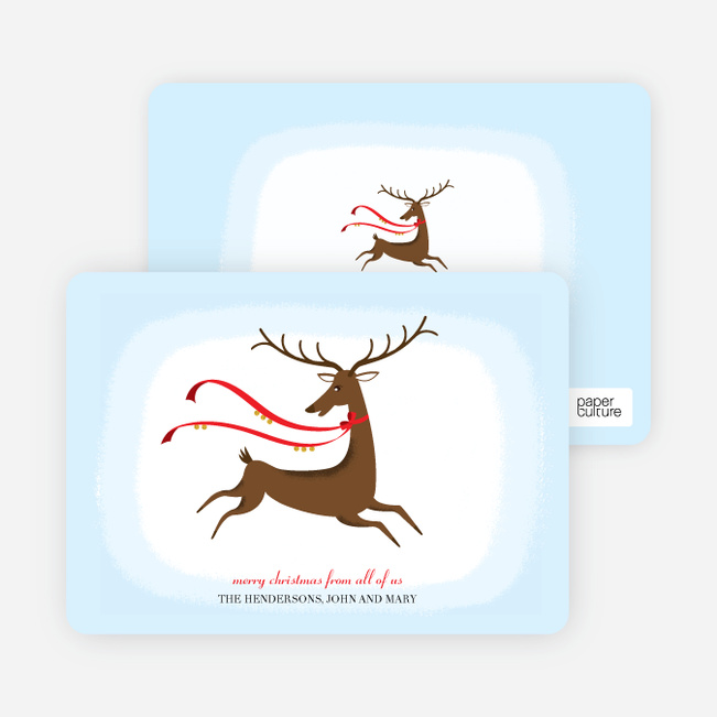 Holiday Cards: Rudolph the Red–nosed Reindeer - Tomato Red