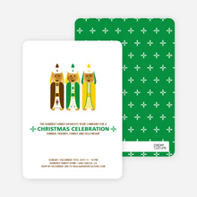 Religious Christmas Card and Invitation - Chocolate Brown