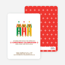 Religious Christmas Card and Invitation - Shamrock Green