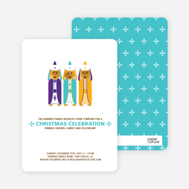 Religious Christmas Cards and Invitations - Purple