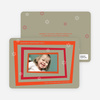 Retro Holiday Photo Cards - Persimmon