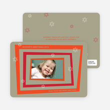 Retro Holiday Frame - Persimmon