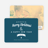 Retro Merry Christmas Cards - Blue
