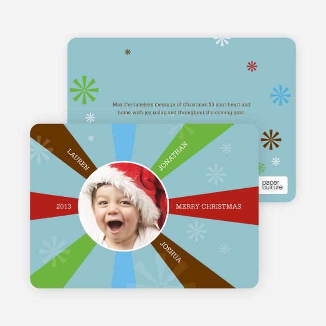 Shining Light Holiday Cards - Powder Blue