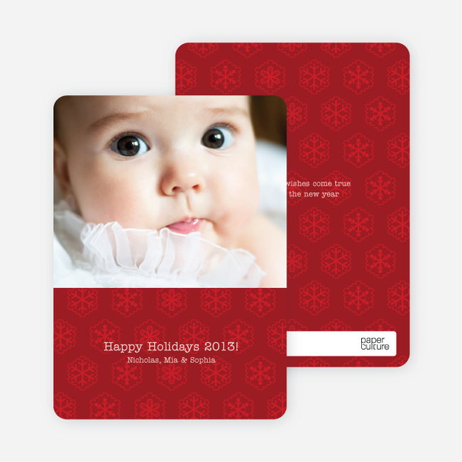 Snowflake Cards for the Holidays - Brick Red
