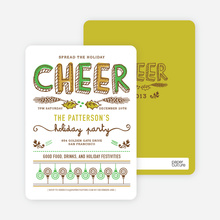 Spread the Holiday Cheer Holiday Invitations - Pistachio