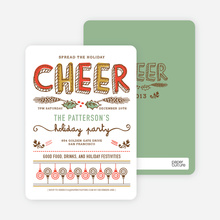 Spread the Holiday Cheer Holiday Invitations - Orange Spice