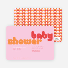 Superstar Girl Baby Shower Invitations - Pink